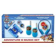 Játék szett Mancs őrjárat - készlet: walkie-talkie, fejhallgató, zseblámpa