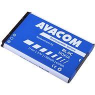 AVACOM akkumulátor Nokia 6230, N70 készülékekhez, Li-ion, 3,7 V, 1100 mAh (BL-5C helyett) - Mobiltelefon akkumulátor