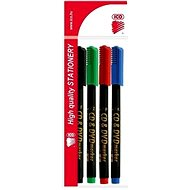 ICO tartós CD/DVD marker - 4 szín - Dekormarker