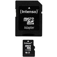 Intenso Micro SDHC 16GB Class 10 + SDHC adapter - Memóriakártya