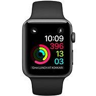 Apple Watch Series 2 38 mm kozmikus szürke alumínium, fekete sport szíj - Okosóra