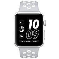 Apple Watch Series 2 Nike+ 42 mm-es ezüst alumíniumtok, matt ezüst – fehér Nike sportszíj - Okosóra