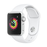 Apple Watch Series 3 38mm GPS ezüstszínű alumíniumtok fehér sportszíjjal - Okosóra