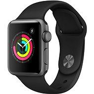 Apple Watch Series 3 38mm GPS Asztroszürke alumíniumtok fekete sportszíjjal - Okosóra