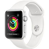 Apple Watch Series 3 42 mm GPS ezüst színű alumínium fehér sportpánttal - Okosóra