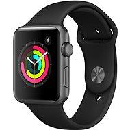 Apple Watch Series 3 42 mm GPS Asztroszürke, alumínium, fekete sportszíjjal - Okosóra