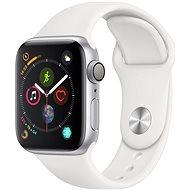 Apple Watch Series 4 40mm ezüstszínű alumínium fehér sportszíjjal - Okosóra