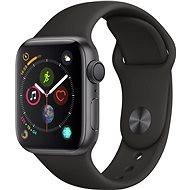 Apple Watch Series 4 40mm asztroszürke alumínium fekete sportszíjjal - Okosóra