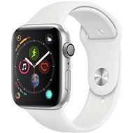 Apple Watch Series 4 44mm ezüstszínű alumínium fehér sportszíjjal - Okosóra