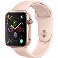 Apple Watch Series 4 44mm aranyszínű alumínium rózsakvarcszínű sportszíjjal - Okosóra