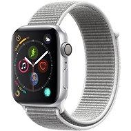 Apple Watch Series 4 44mm ezüstszínű alumínium kagylófehér sportpánttal - Okosóra