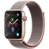 Apple Watch Series 4 44mm aranyszínű alumínium rózsakvarcszínű sportpánttal - Okosóra