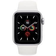 Apple Watch Series 5 40mm, ezüstszínű alumíniumtok fehér sportszíjjal - Sportóra