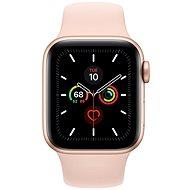 Apple Watch Series 5 40mm aranyszínű alumíniumtok rózsakvarcszínű sportszíjjal - Sportóra