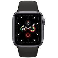 Apple Watch Series 5 40mm, asztroszürke alumíniumtok fekete sportszíjjal - Okosóra