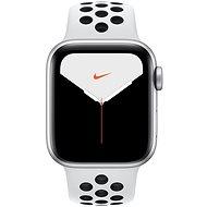 Apple Watch Series 5 Nike+ 40mm, ezüstszínű alumíniumtok platinaszín-fekete Nike sportszíjjal - Sportóra