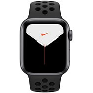 Apple Watch Nike Series 5 (40 mm) Space Gray Aluminium Nike antracit/fekete színű sportos szíjjal - Okosóra