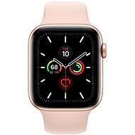 Apple Watch Series 5 44mm, aranyszínű alumíniumtok rózsakvarc sportszíjjal - Sportóra