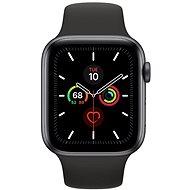 Apple Watch Series 5 44mm, asztroszürke alumíniumtok fekete sportszíjjal - Sportóra