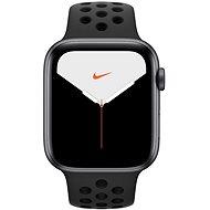 Apple Watch Series 5 Nike+ 44mm, asztroszürke alumíniumtok antracit-fekete Nike sportszíjjal - Okosóra
