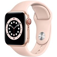 Apple Watch Series 6 40mm Cellular Aranyszínű alumíniumtok rózsakvarcszínű sportszíjjal - Okosóra