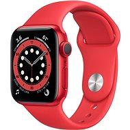 Apple Watch Series 6 40 mm Piros alumínium, piros sport szíjjal - Okosóra