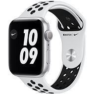 Apple Watch Nike Series 6 40 mm Ezüst alumínium platina/fekete Nike sportszíjjal - Okosóra
