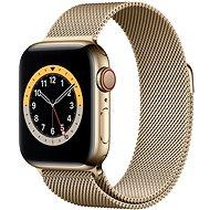 Apple Watch Series 6 40mm Cellular Aranyszínű rozsdamentes acél tok aranyszínű milánói szíjjal - Okosóra