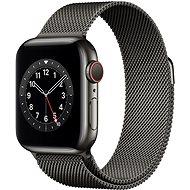 Apple Watch Series 6 40mm Cellular Grafitszínű rozsdamentes acél tok grafitszínű milánói szíjjal - Okosóra