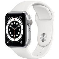 Apple Watch Series 6 44mm ezüst alumínium, fehér sport szíjjal - Okosóra