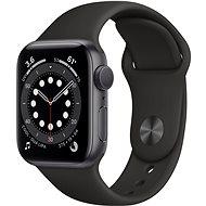 Apple Watch Series 6 44 mm Űrszürke alumínium, fekete sport szíjjal - Okosóra