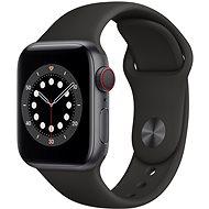 Apple Watch Series 6 44mm Cellular Asztroszürke alumíniumtok fekete sportszíjjal - Okosóra