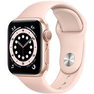 Apple Watch Series 6 44 mm arany alumínium, homokrózsaszín sport szíjjal - Okosóra