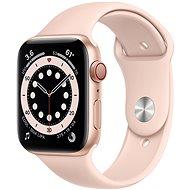 Apple Watch Series 6 44mm Cellular Gold alumínium, homokrózsaszín sportpánttal - Okosóra