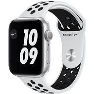 Apple Watch Nike Series 6 44 mm Ezüst alumínium platina/fekete Nike sportszíjjal - Okosóra