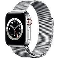 Apple Watch Nike Series 6 44mm Cellular Ezüstszínű rozsdamentes acél tok ezüstszínű milánói szíjjal - Okosóra