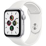 Apple Watch SE 40 mm ezüst alumínium, fehér sport szíjjal - Okosóra