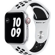 Apple Watch Nike SE 40mm Cellular Ezüstszínű alumíniumtok platinaszín-fekete Nike sportszíjjal - Okosóra