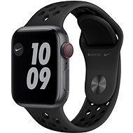 Apple Watch Nike SE 40mm Cellular Asztroszürke alumíniumtok antracit-fekete Nike sportszíjjal - Okosóra