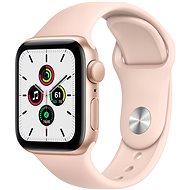 Apple Watch SE 44 mm arany alumínium, homokrózsaszín sport szíjjal - Okosóra