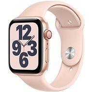 Apple Watch SE 44 mm Cellular Gold alumínium homokrózsaszín sport szíjjal - Okosóra