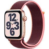 Apple Watch SE 44 mm Cellular Gold alumínium szilva sport szíjjal - Okosóra