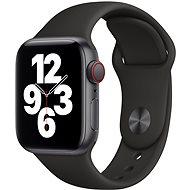 Apple Watch SE 44 mm Cellular Asztroszürke fekete alumínium, fekete sport szíjjal - Okosóra