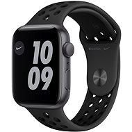 Apple Watch Nike SE 44 mm asztroszürke alumínium Nike antracit / fekete sport szíjjal - Okosóra