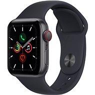 Apple Watch SE 44 mm Cellular Asztroszürke alumínium, éjfekete sportszíjjal - Okosóra