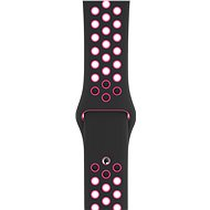 Apple Watch 44mm fekete-rózsaszín robbanás színű Nike sportszíj - S/M és M/L - Szíj