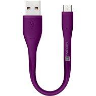 Adatkábel CONNECT IT Wirez Micro USB lila, 0.13m