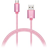CONNECT IT Wirez Premium micro USB, 1 m, pink - Adatkábel