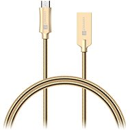 CONNECT IT Wirez Steel Knight Micro USB 1m, fémes arany - Adatkábel