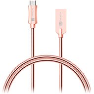 CONNECT IT Wirez Steel Knight Micro USB 1m, metallic rose-gold